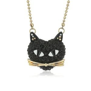 Black Cat Iced out Necklace